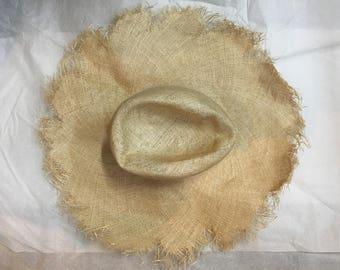 Fine sisal straw body for millinery hat making
