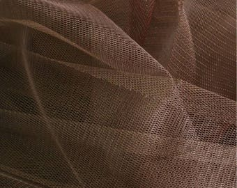 soft brown tulle width 120 cm