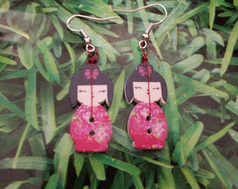 kokeshi bud earrings