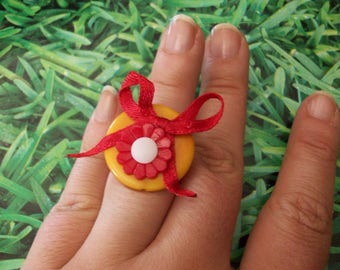 ring flower buttons