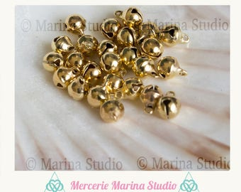 10 bells tone shiny gold 10x8mm