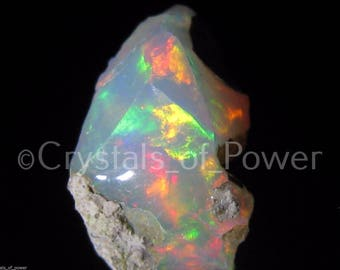 ONE Fire Opal! Welo Crystal! Vivid FIre! Extremely Rare! Very Limited Quantity! Ethiopia!