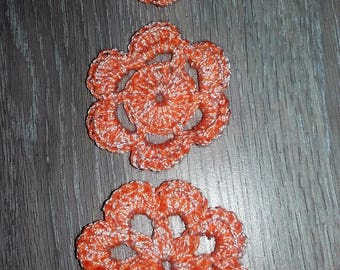 (1) set of 15 miniature crochet