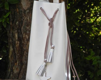 BUCKET bag White leather
