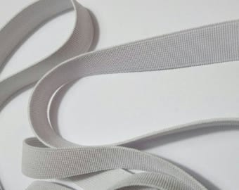 White elastic soft 1.5 cm wide sold by 20 cm