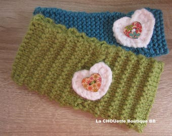"""Set of 2 headbands """"handmade"""" size 12/24 months"""