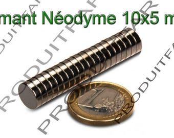 Set of 10 round NdFeB neodymium magnet very powerful Magnet Fimo Scrapbooking 10x5mm
