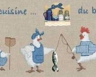 Ladies sea kitchen blessed Embroidery Kit