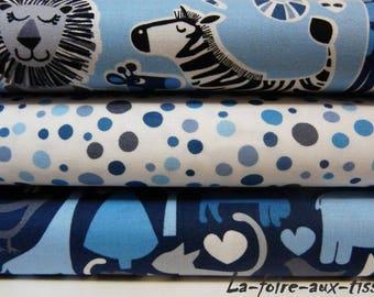 set of 3 patchwork animals 54cmx22cm Miller fabrics