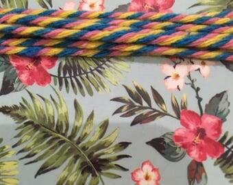10 meters of multicolor cotton string, twine, crochet