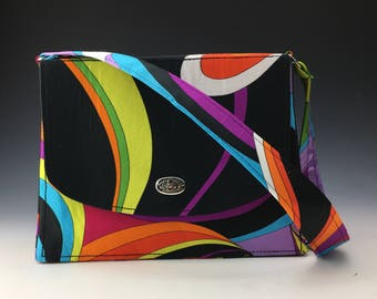 Sleek and Chic satin purse in Technicolor Dreamcoat