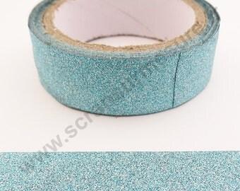 Glitter adhesive tape - light blue glitter - 15mm x 4 m