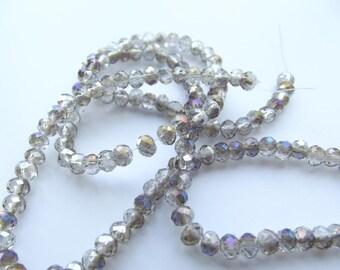 135 Crystal rondelle faceted 4 x 3 mm beige STAR-158