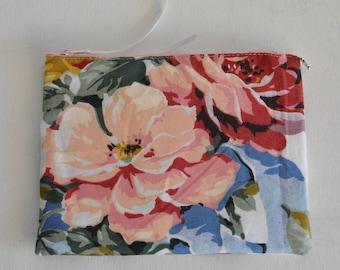 Romantic floral fabric makeup