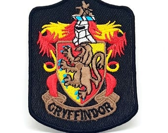 581# Harry Porter Fiction Gryffindor long Iron/Sew On Embroidered Patch