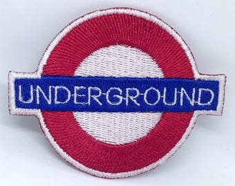1309# London Underground logo Iron on Sew on Embroidered Patch