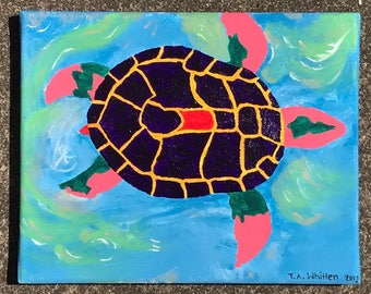 Tranquil Sea (original painting) 8x10
