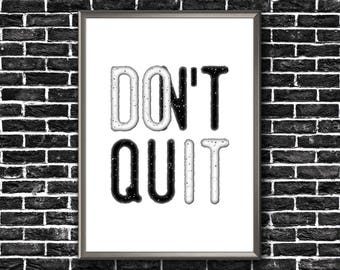 Motivational Wall Decor | Don't Quit | Do It | Motivational Poster | Don't Quit Print | Motivational Printable | Motivational Print