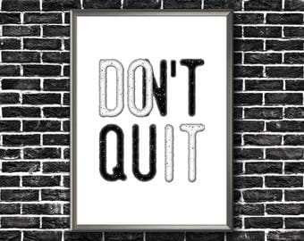 Motivational Wall Decor   Don't Quit   Do It   Motivational Poster   Don't Quit Print   Motivational Printable   Motivational Print