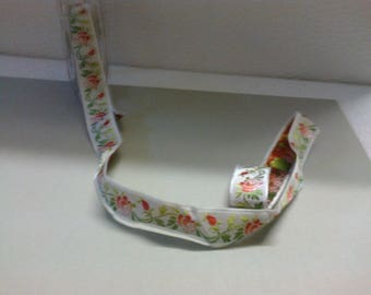 70cm synthetic Ribbon trimmed in pink 2cm wide