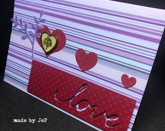 """colorful and romantic card """"love""""... unique!"""