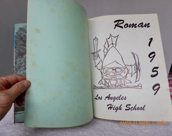 1959 Roman: Los Angeles High School Yearbook Annual