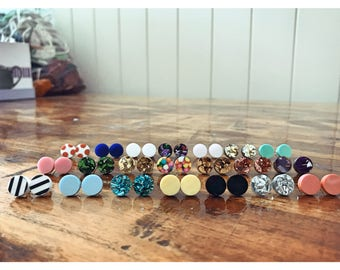 Your choice of 4 - 10mm Round Stud Earrings