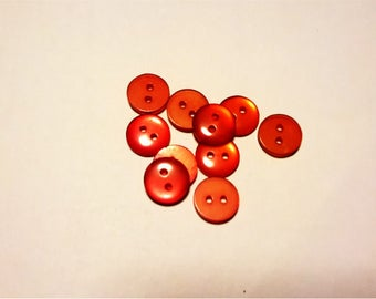 Set of shirt in red acrylic buttons