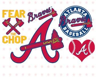 Atlanta Braves Svg, Atlanta Svg, Braves Svg, Atlanta Braves Clipart, Braves baseball files, Baseball Clipart, Atlanta Braves File svg dxf