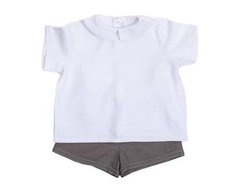 Baby boy linen shirt and shorts set