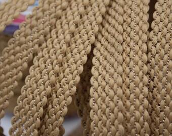Stripe Beige thread Gold 1.4 cm x 1 m