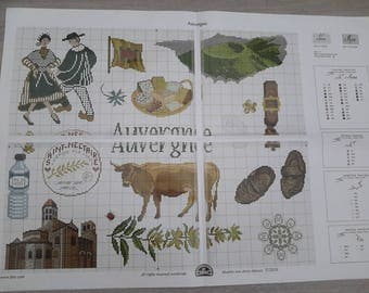 listing cross stitch chart of Auvergne