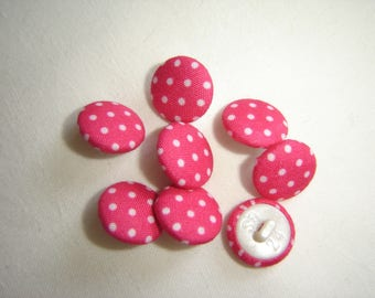 10 fabric buttons Indian ROSEWOOD / / 15 mm