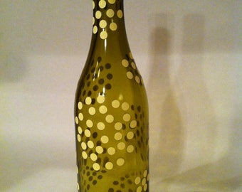 Yellow Dotted Bottle Vase
