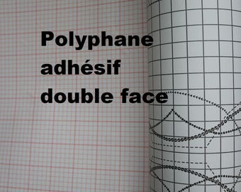 Polyphane double sided adhesive 30x120cm for suspending lighting ruffle Lampshade