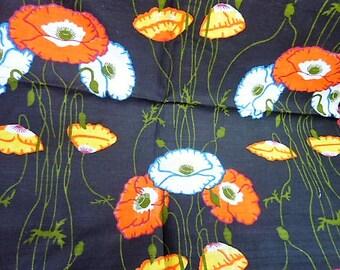 2 fabric flowers on stems vintage * 2 (1 m x 0.60 m) * cotton cappucine