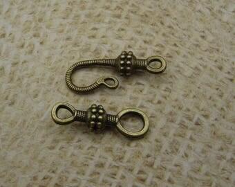 5 hook 45mm bronze metal clasps