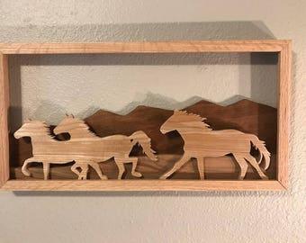 Lot 0761  Running Wild Horses