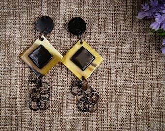 Buffalo Horn Earrings Horn Earrings Horn Jewelry Horn Accessories TA 26014