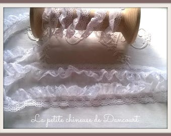 White shabby nylon lace