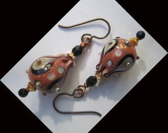 "Earrings ""boudoir"" hypoallergenic metal hooks"