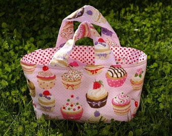 "Quilted basket child ""cupcakes"""