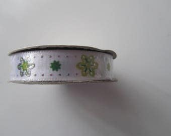 Anemones - 3 metre length - 10 mm wide satin ribbon