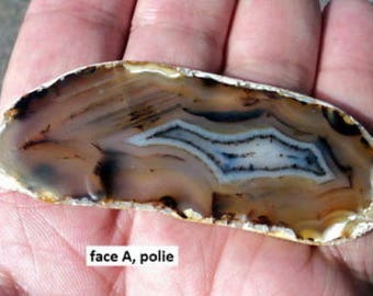 AGATE LONGS RIVER plate polished mineral 21 g.