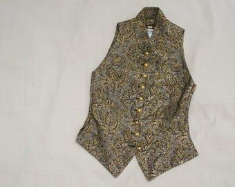Celine Vest, Gold Brocade