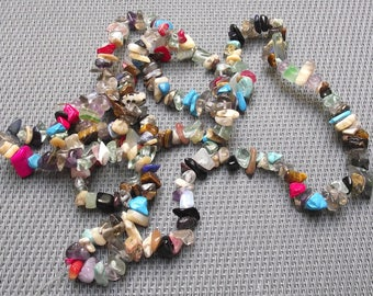320 - mother of Pearl - glass stone 0.6/10 mm multicolored beads.