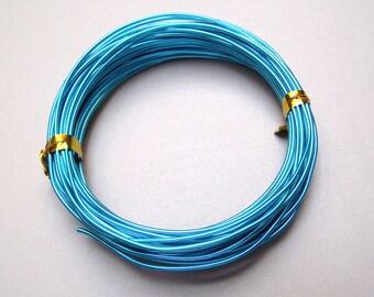 5 meter 1 mm bright blue aluminum wire.