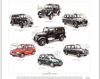 THE LONDON TAXI Fine Art Print - (Austin FX3 FX4 LT1 TX1)