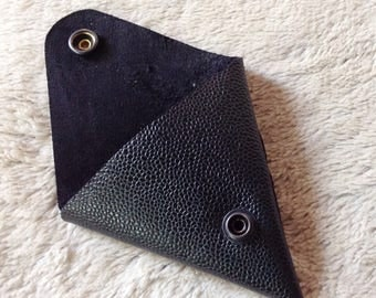 Triangle leather wallet