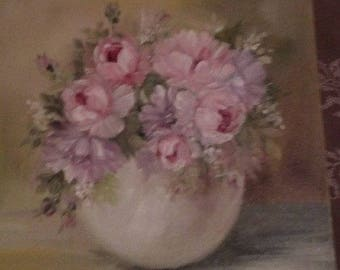 oil on canvas the romantic flower vase
